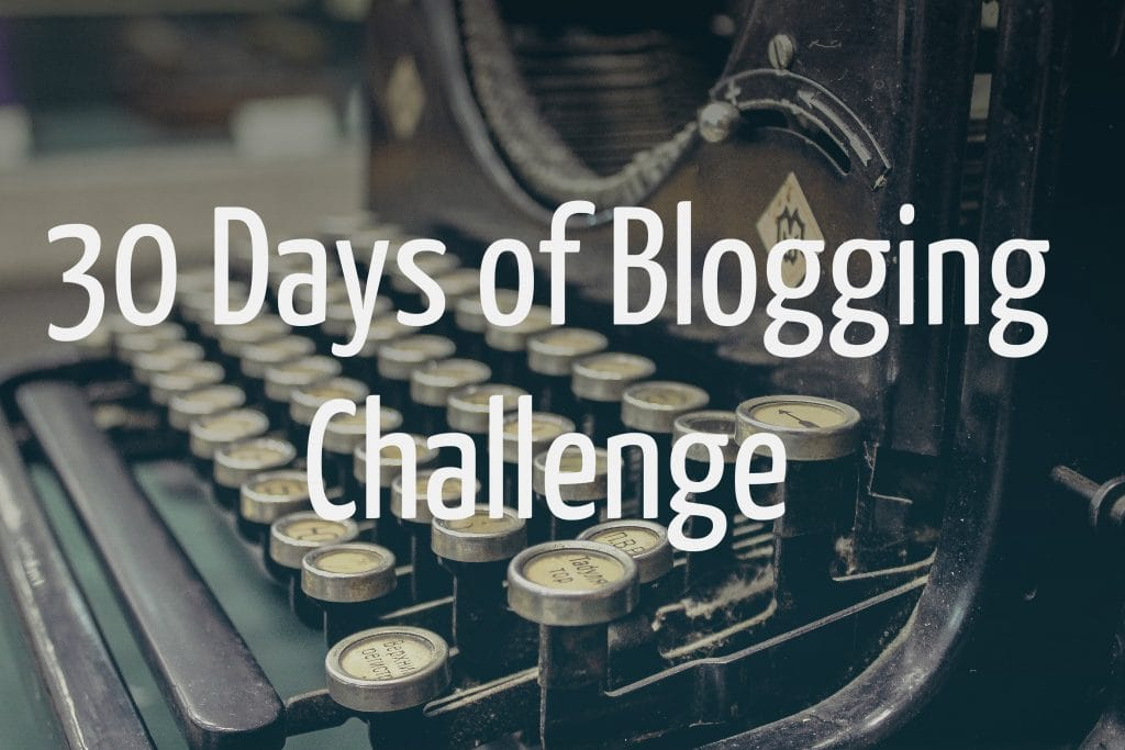 30 days 30 Blogging Posts